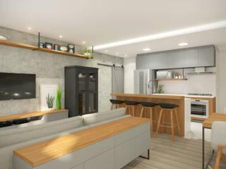 Interior casa da Aline e André Salas de jantar industriais por iM2 arquitetura Industrial