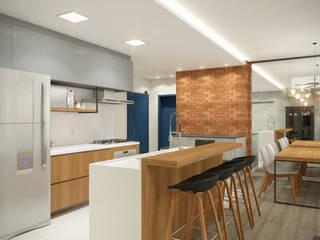 Interior casa da Aline e André Cozinhas industriais por iM2 arquitetura Industrial