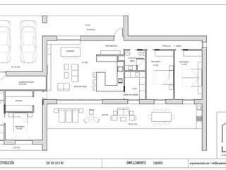 Diseño de una vivienda Unifamiliar de nueva construcción en Cabueñes, Gijón (Proyecto en construcción):  de estilo  de arQmonia estudio, Arquitectos de interior, Asturias