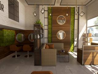Avcılar Kuaför Tasarımlarımız Emre Bayraktar Rustik Oturma Odası Yönlendirilmiş Yonga Levha Yeşil