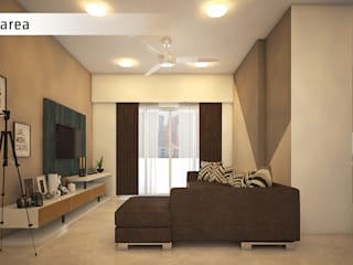 2BHK Salarpuria Cadenza Modern living room by Studio Skapeart Modern