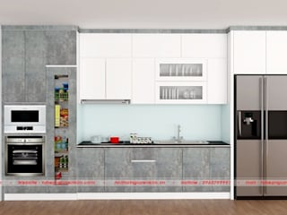 Com bo mẫu tủ bếp hiện đại chữ L tại Nội thất Nguyễn Kim bởi Nội thất Nguyễn Kim
