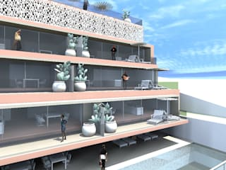 Modern style balcony, porch & terrace by MCSARQ Modern