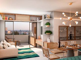 Apartamento de Sá Salas de jantar modernas por Studio Costa Campos Moderno