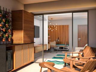 Apartamento de Sá por Studio Costa Campos Moderno