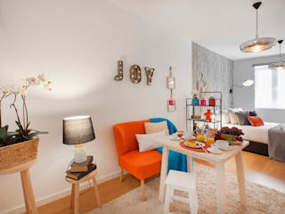 스칸디나비아 거실 by Rafaela Fraga Brás Design de Interiores & Homestyling 북유럽
