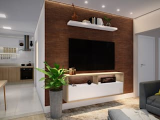 Studio MP Interiores Modern living room Wood Wood effect