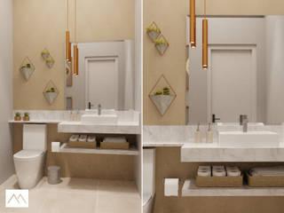 RDJ - Lavabo: Banheiros  por Studio MBS Arquitetura,Moderno