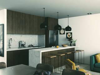 Apartamentos en Playa del Carmen Cocinas modernas de aerrecu Moderno