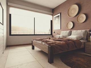 Apartamentos en Playa del Carmen Dormitorios modernos de aerrecu Moderno