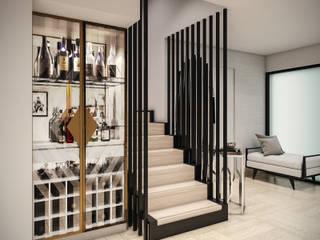 PAR Arquitectos Moderne Wohnzimmer Holz Braun
