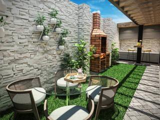 PAR Arquitectos Modern Garden Concrete Green