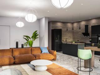 Harmony Space Гостиная в стиле модерн от Roksana Design Модерн