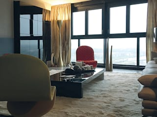 Luxe appartement:  Woonkamer door ZO ingericht