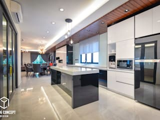 Semi-D @ Bukit Segar :  Kitchen by Young Concept Design Sdn Bhd,