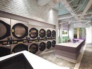 Гостиная в стиле лофт от 司創仁和匯鉅設計有限公司 Лофт