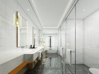 Lego İç Mimarlık & İnşaat Dekorasyon Modern bathroom Ceramic White
