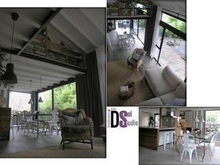 Rehabilitación de vivienda en La Angostura, Gran Canaria (2017) Estudios y despachos de estilo rústico de DSol Studio de Arquitectura + Arte Rústico
