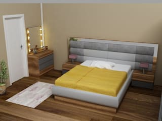 MODELLARAYDOLAP – Profil Kapaklı Yatak Odası:  tarz ,