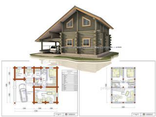 บ้านไม้ โดย Projectstroy, คันทรี่