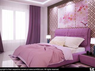Dormitorios de estilo  por Cosmos Interiors, Moderno