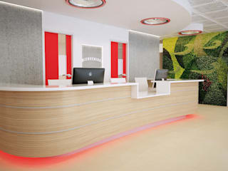 Office Reception:  Study/office by Cosmos Interiors,
