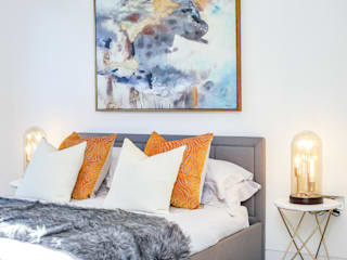 Dulwich Townhouse:  Small bedroom by LJ Interiors , Modern