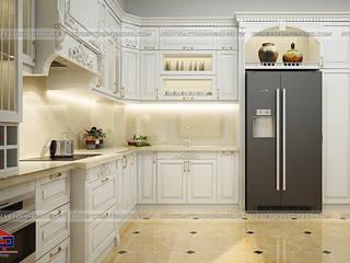 Công trình tủ bếp tân cổ điển nhà anh Linh - Thanh Hóa Nội thất Hpro KitchenCabinets & shelves White