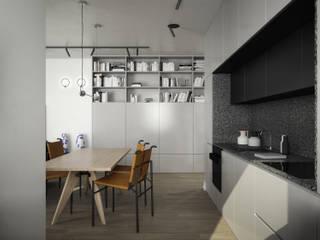 mieszkanie: styl , w kategorii Aneks kuchenny zaprojektowany przez oshi pracownia projektowa,