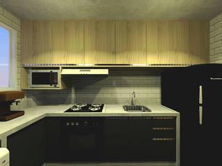 Apartamento do Victor: Cozinhas  por OBARQ,Minimalista