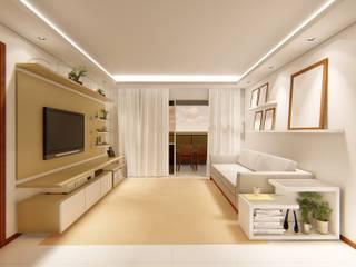 Apartamento no Hemisphere 360: Salas de estar  por OBARQ,Moderno