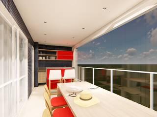 Apartamento no Hemisphere 360: Varandas  por OBARQ,Moderno