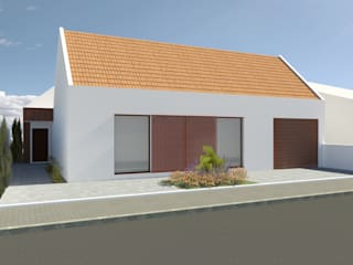 Moradia -Grândola: Casas unifamilares  por Teresa Ledo, arquiteta,Moderno