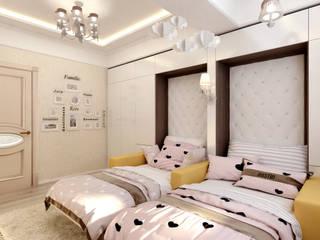 Dormitorios infantiles de estilo ecléctico de Цунёв_Дизайн. Студия интерьерных решений. Ecléctico