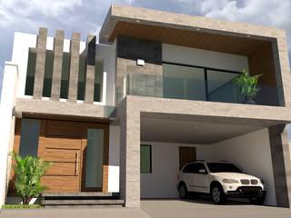 CASA HABITACIÓN CEDROS 113 de V+C Arquitectura Moderno