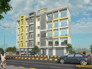 Residential Building 3D by Rakshit Enterprises