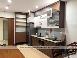 Công trình tủ bếp laminate nhà anh Trung - Nguyễn Chánh: hiện đại  by Nội thất Hpro, Hiện đại