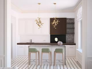 GRAND DELUXE на Плющихе Кухни в эклектичном стиле от Архитектурная мастерская Александра Ордынцева Эклектичный