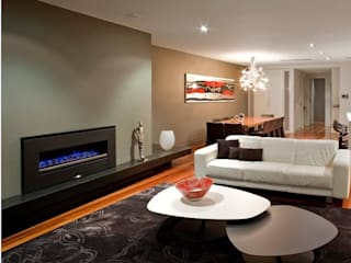 Modern living room by Grupo Cinco Chimeneas Modern