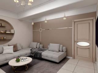Salones de estilo ecléctico de Цунёв_Дизайн. Студия интерьерных решений. Ecléctico