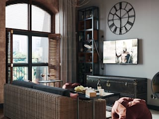 Industrial style living room by Zibellino.Design Industrial