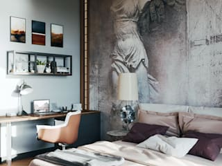 Industrial style bedroom by Zibellino.Design Industrial