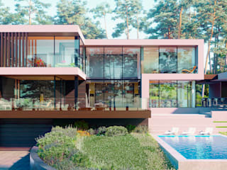 House in the forest 5.0  450м2:  в . Автор – ALEXANDER ZHIDKOV ARCHITECT,