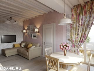 Country style living room by Lidiya Goncharuk Country