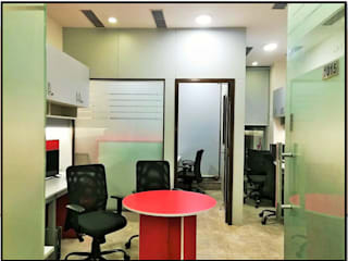 Interior Renovation of Co-working Space - Ten 15 Modern offices & stores by Ecoinch Services Private Limited Modern