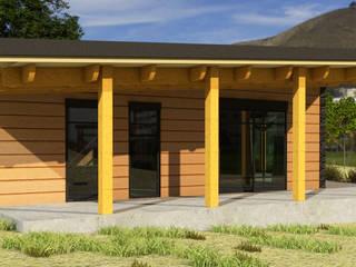 Diseño Cabaña de madera de CEC Espinoza y Canales LTDA Rústico