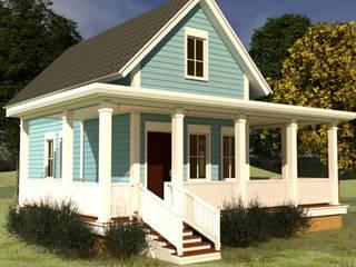 Diseño casa de Campo estilo americano 91.4 M2 de CEC Espinoza y Canales LTDA Rural