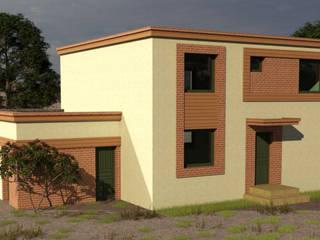 Diseño vivienda estilo mediterraneo moderno, 2 plantas 188 M2 de CEC Espinoza y Canales LTDA Mediterráneo