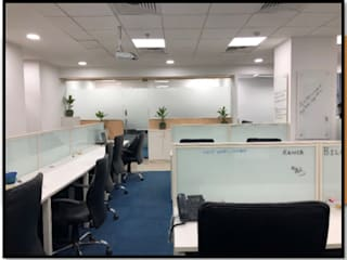 Modern Office Interior - Station 171 Modern offices & stores by Ecoinch Services Private Limited Modern