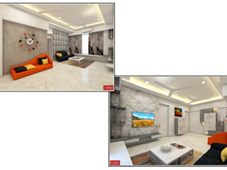 Residential Projects:  Living room by ISPACE,